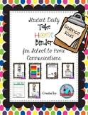 PreK Daily Take Home Binder Folder Packet Science Kids