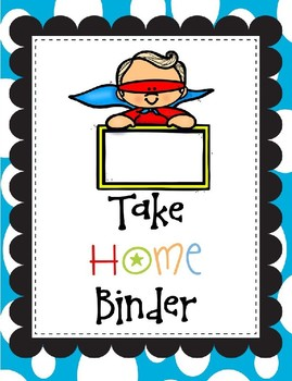 PreK Daily Take Home Binder Folder Packet Superhero