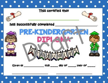 photo regarding Pre Kindergarten Diploma Printable named Prekindergarten Degree