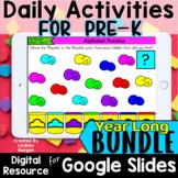PreK Morning Work Daily Digital Activities for Google Clas