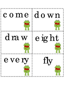PreK Dolch Sight Words