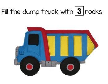 PreK Dump Truck Playdoh Mats
