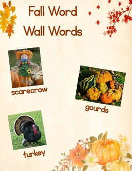 Fall Word Wall Words (Words First)
