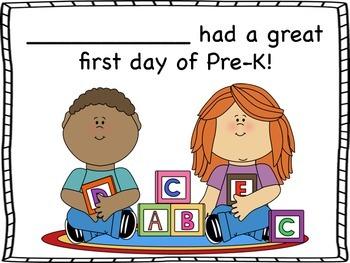 PreK First Day Certificates