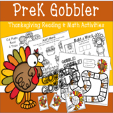 PreK Gobbler Thanksgiving Reading & Math Activities
