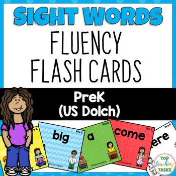 40 PreK Sight Word (Dolch) Flash Cards