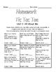 PreK Homework Tic Tac Toe