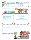 PreK January Newsletter Template