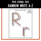 PreK Journal Pack - Rainbow Write A to Z