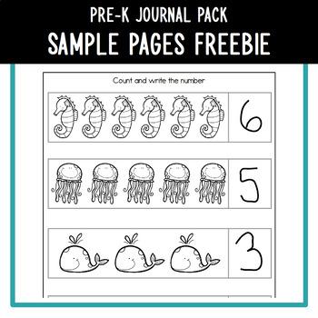 PreK Journal Sample Pages