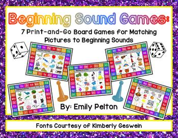 PreK-K Beginning Sound Games - FREEBIE!