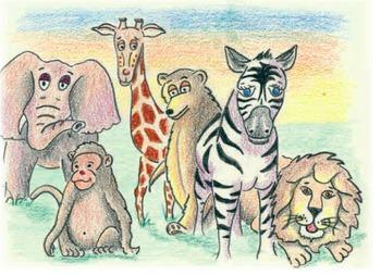 PreK-K Children's Pattern Book - The Messy Zoo ( HARD GOODS)