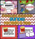 PreK, K, 1st BUNDLE - 6 interactive whiteboard activities ppt