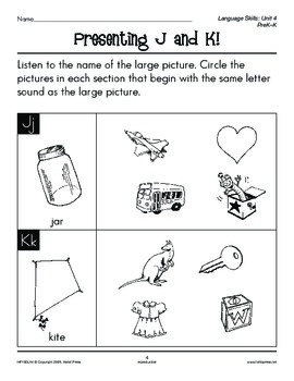 PreK-K Language Arts Unit 4: Consonant Sounds