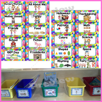 Book Labels with Pictures and Words to Organize Your Library
