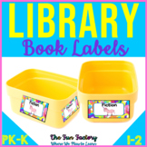 Library Labels with Pictures and Words for Your Classroom Library