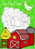 PreK-K+ On the Farm Worksheets