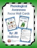 PreK - K Phonological Awareness Focus Wall Cards - Green