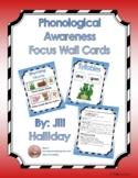 PreK - K Phonological Awareness Focus Wall Cards - Red