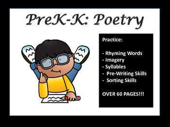 PreK and Kindergarten Literacy Centers: Poetry