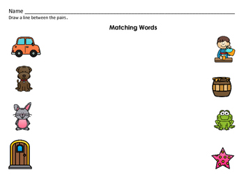 PreK-K Literacy Centers: Word Families