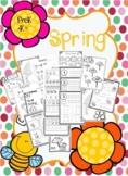 PreK-K+ Spring Worksheet Package