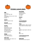 PreK/Kinder Comprehensive October Curriculum Outline