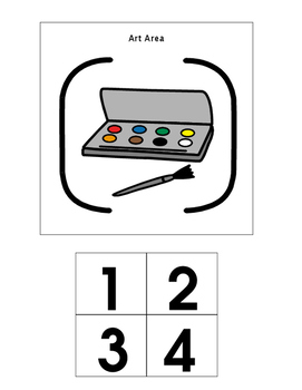 PreK/Kindergarten Center Area Labels