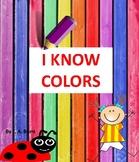 PreK, Kindergarten Emergent reader book, read and color
