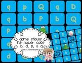 PreK & Kindergarten Game Show Letter Recognition Lower Case b, d, p, q PPT
