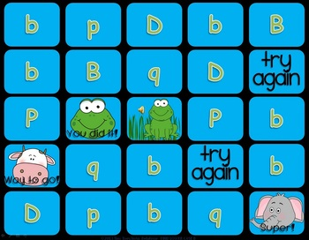 PreK & Kindergarten Game Show Letter Recognition Lower Case b, d, p, q PPT
