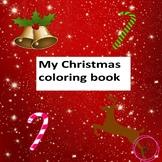 PreK, Kindergarten, Emergent reader Christmas reader, Christmas coloring book
