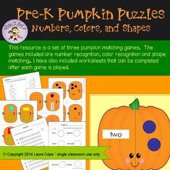 PreK - Kindergarten Matching Games