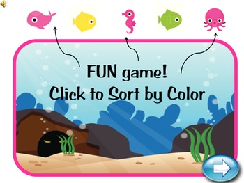 PreK Kindergarten Math - Sorting and Matching Interactive Powerpoint Game