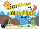 PreK Kindergarten Math - Sorting and Matching Interactive