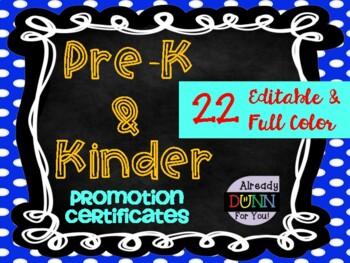 PreK & Kindergarten Promotion Certificates: Landscape