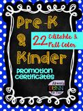 PreK & Kindergarten Promotion Certificates: Portrait