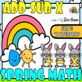 Kindergarten Spring Math Facts Tables Charts 1-50 Pack