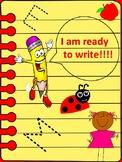 PreK, Kindergarten, grade 1 and 2 writing paper with lines