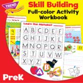 PreK Language Arts and Math 160-Page Activity Workbook