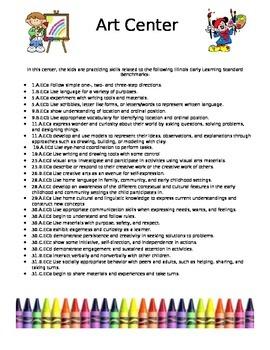 PreK Learning Center Signs
