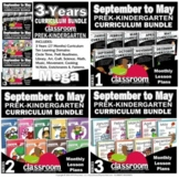 Preschool Pre-K and Kindergarten Curriculum 3-Year BUNDLE