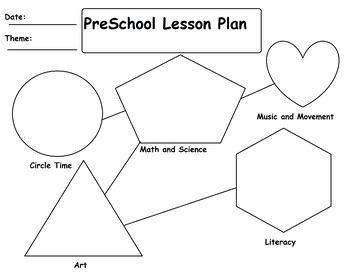 PreK Lesson Plan Template