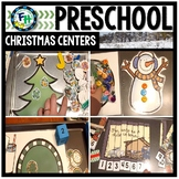 Preschool Christmas Literacy & Math Activity Centers