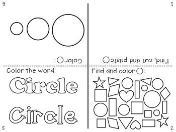 Little Shape Books: Mini Books, 2D Shapes, Geometry {Prek-K, Special Ed., RTI}