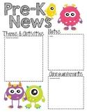 PreK Monster - Editable Word Newsletter
