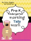 PreK Morning Tally Work