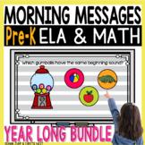PreK Morning Messages DIGITAL BUNDLE HUGE DISCOUNT for a l
