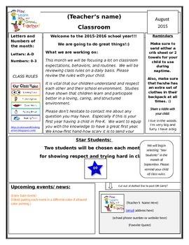 PreK Newsletter