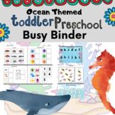 Toddler PreK Ocean Themed Busy Binder | Learning Binder / Folder